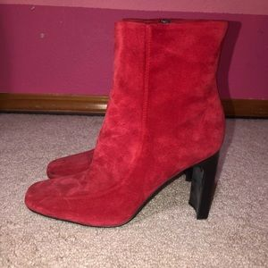 Marc Fisher red boots